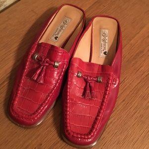 Brighton Julie Red Leather Croc w/Tassel